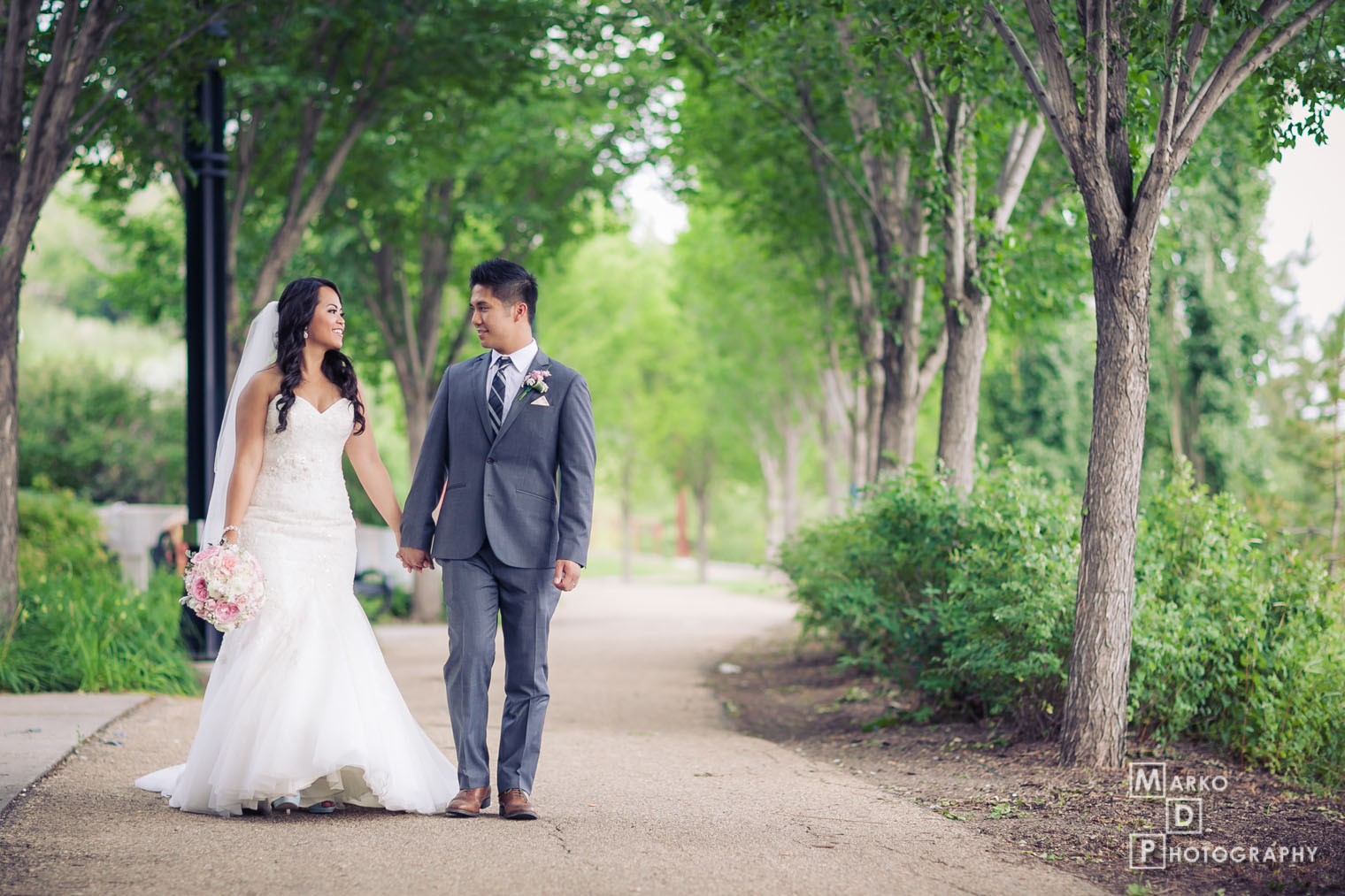 walking wedding edmonton photo